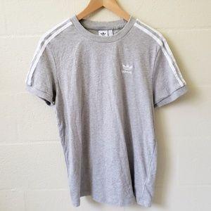 Adidas Striped Sleeve Logo Tshirt